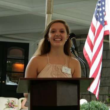 2016 Scholarship Recipient, Molly Harty of Warrenton and a freshman at East Carolina University